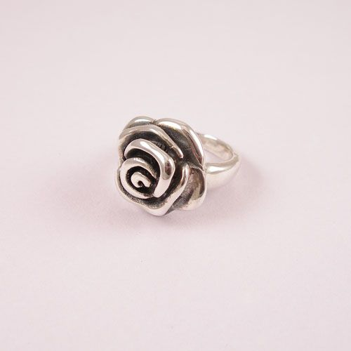 925 oxydized silver ring.