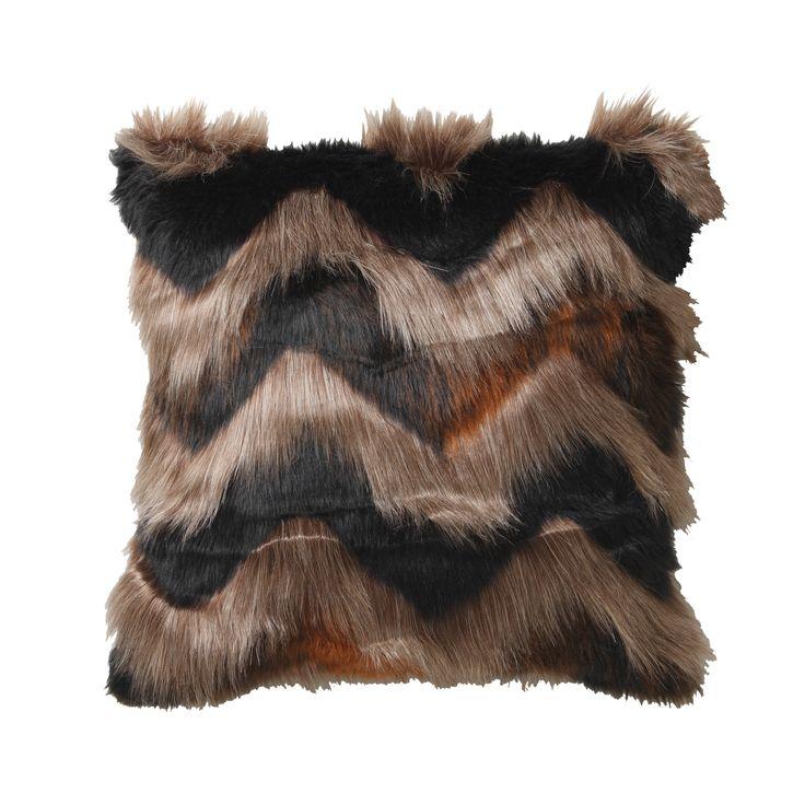 LOGAN & MASON ACCESSORIES - Bangal Tan Square Cushion #black #tan #brown #accessories #faux #fur #cushion #home #décor #style #fashion #loganandmason