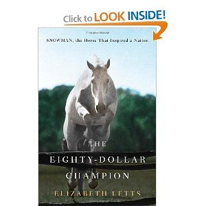 An enjoyable read that's suitable for young adults about Snowman, a horse rescued from the feedlot and trained to be a champion at the National Horse Show at Madison Square Garden.