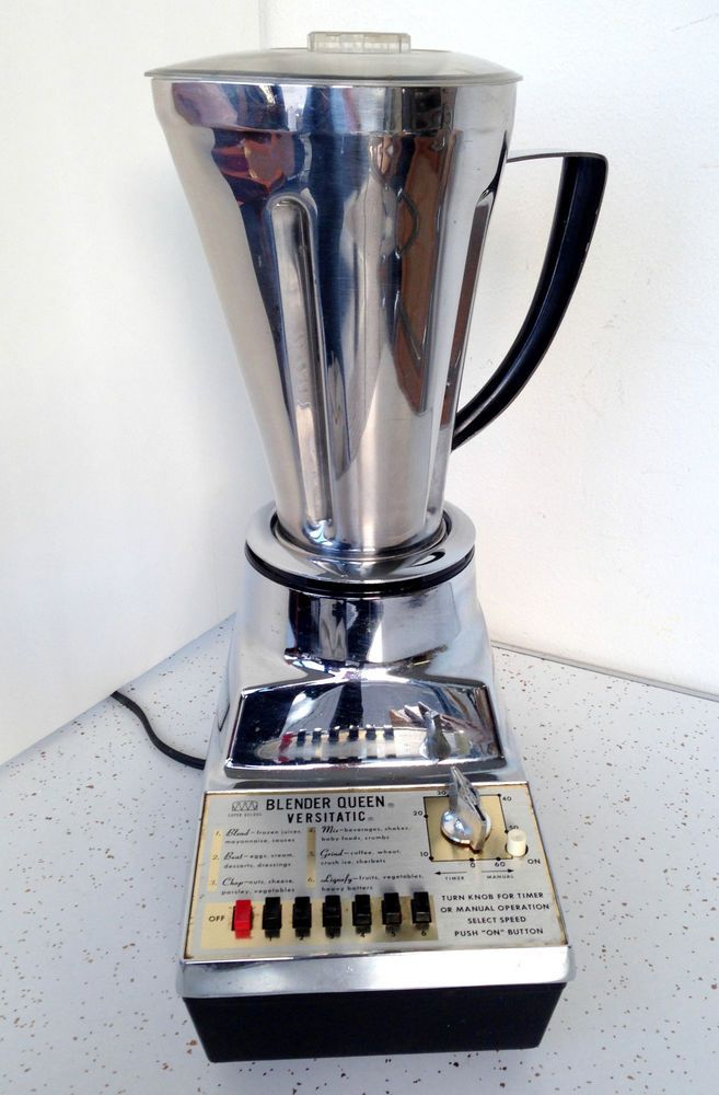 Vintage Mid-Century Chrome Stainless Steal Blender Queen Super Deluxe 6 Cup MCM #BlenderQueen