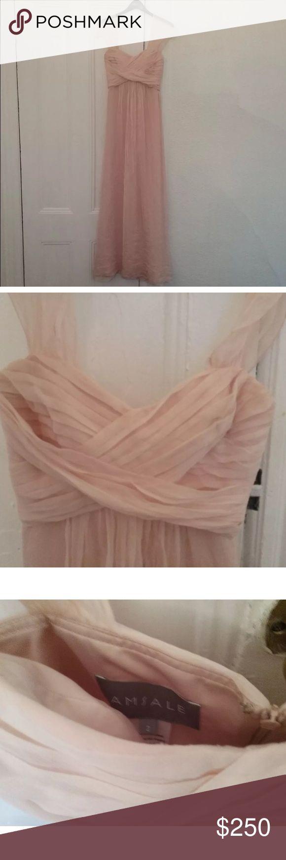 Amsale blush size 2 style G851C Beautiful dress unaltered worn once size 2 amsale Dresses Wedding