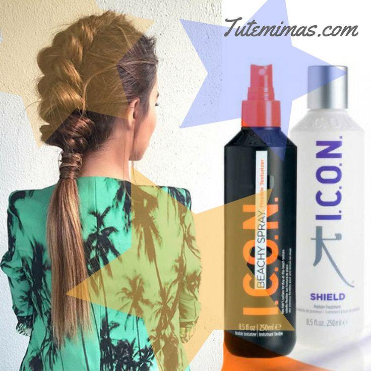Este #verano hazte con tu #Pack #ICON #Beachy Spray + #Shield al mejor precio!!! Un Pack especial, compuesto por spray Beachy, un #texturizador flexible que hidrata, protege y repara e ICON Shield, un #tratamiento para proteger tu cabello y darle energía 💪💪 Recupera la fuerza interior de tu pelo gracias a este poderoso tratamiento repleto de proteínas. El escudo protector que tu cabello necesita para sentirse sano.