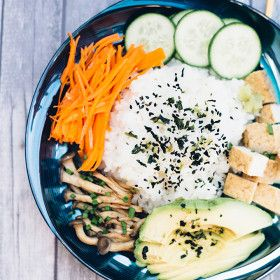 Happy Healthy Vegan Sushi Bowl for Those Who Are Dead Inside