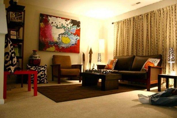 Living Room Furniture Black Sofa Sets Throw Pillow Carpet Texture Small Table Lamps Ceramics Decor Ideas Curtain Pattern Painting On The Wall Bookshelf Modern