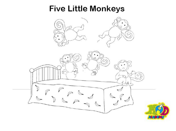 27 best nursery images on pinterest day care babies for Five little monkeys jumping on the bed coloring pages