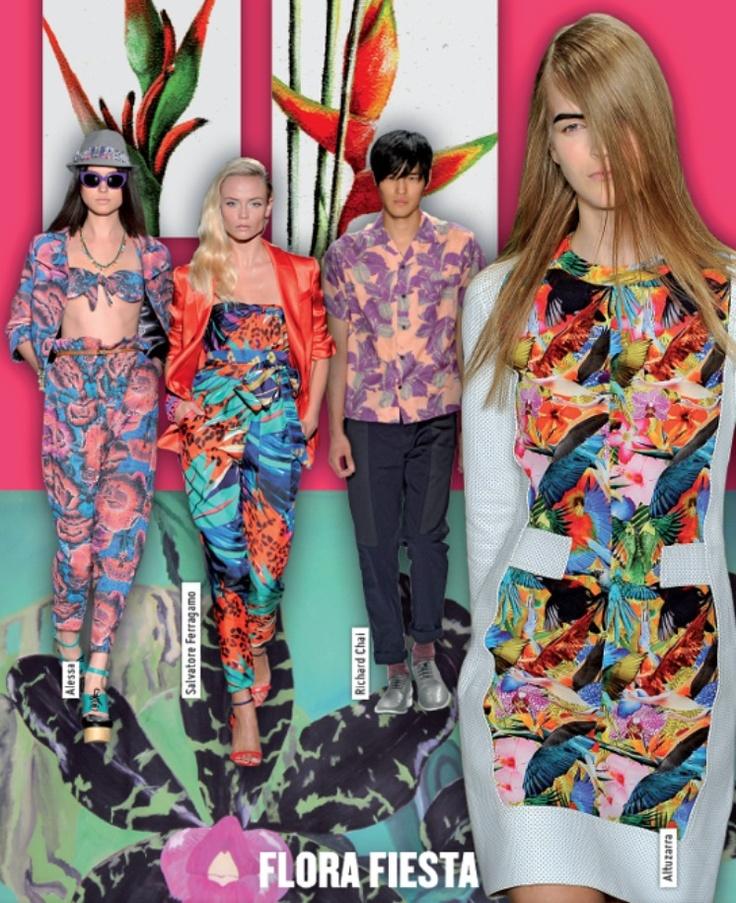 Flora Fiesta. Spring summer 13 trend report.