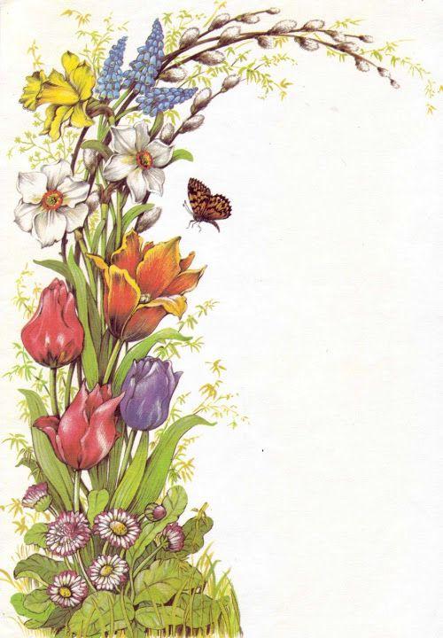 Papel de carta borboleta e flores Füzesi Zsuzsa levélpapírok - Mónika Rák