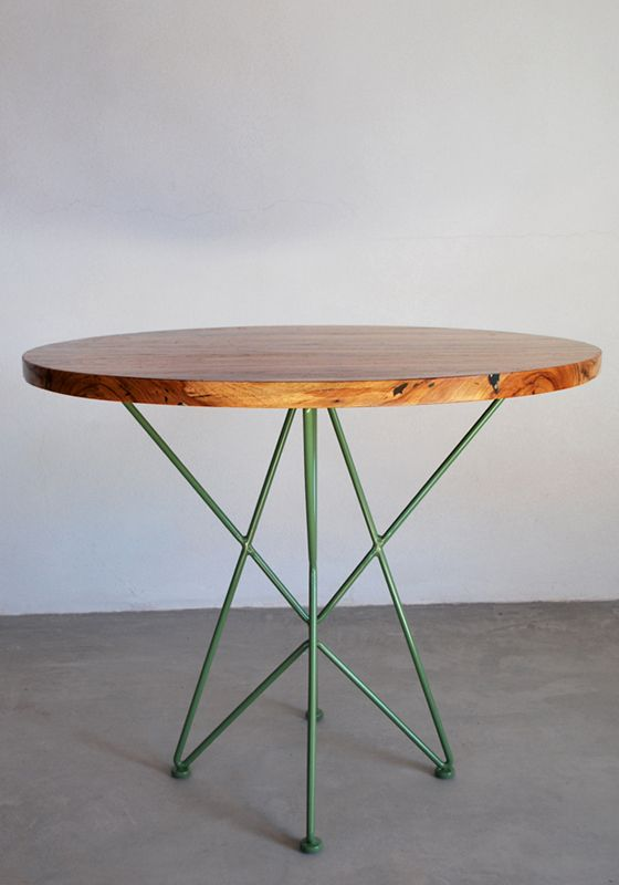 "Garza Furniture - Marfa, TX - 36"" Round Cafe Table for under the stairs?"