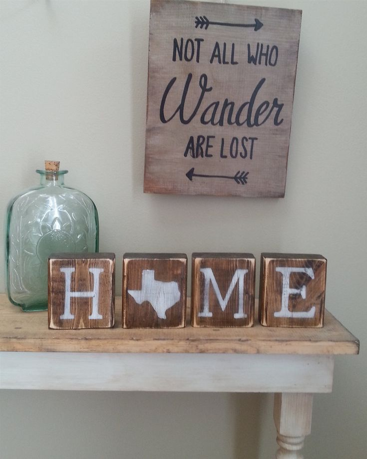 Rustic Texas Decor by witheyesunlocked Home and Love REVERSIBLE Blocks