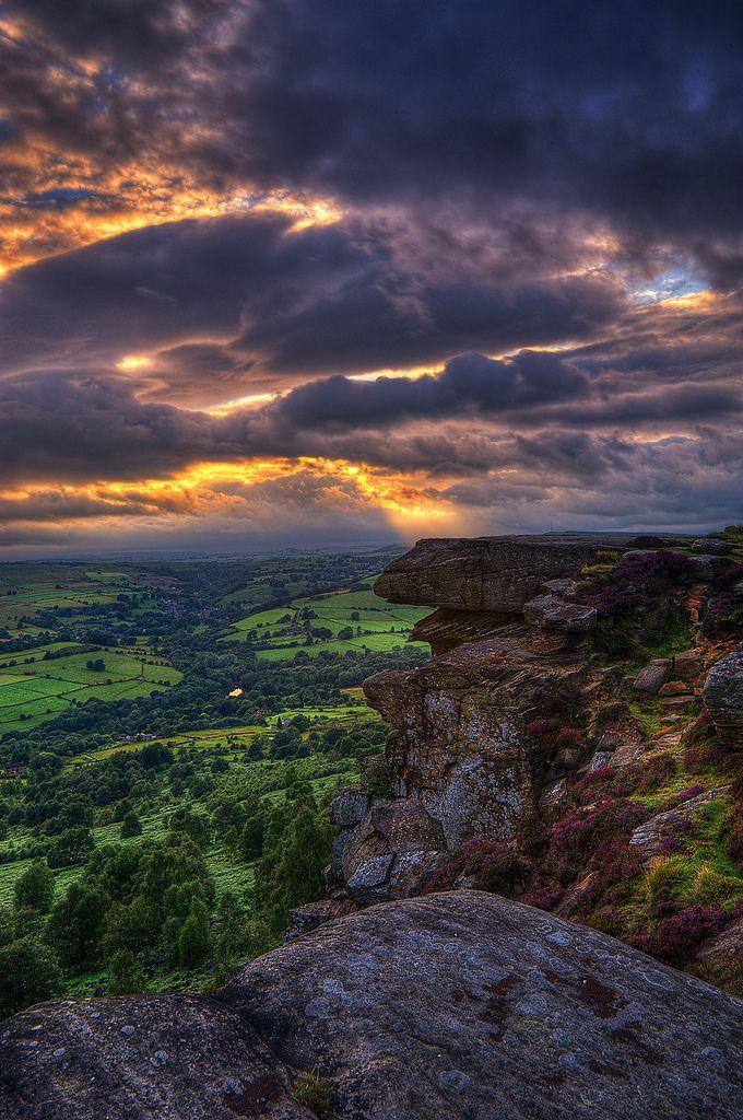 ✯ Stormy Sunset - Curbar Edge, Peak District, Derbyshire, UK