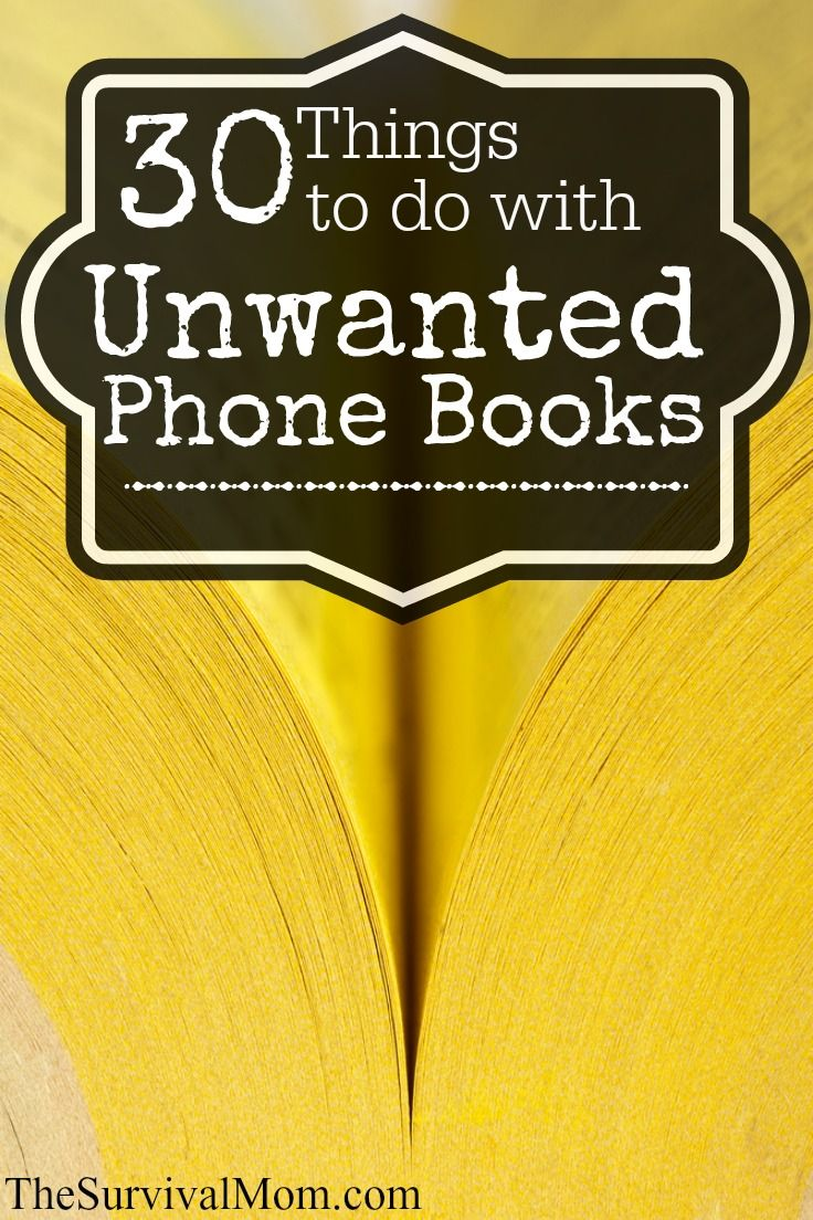 Don't throw those phone books away before you take a look at this list! www.TheSurvivalMom.com
