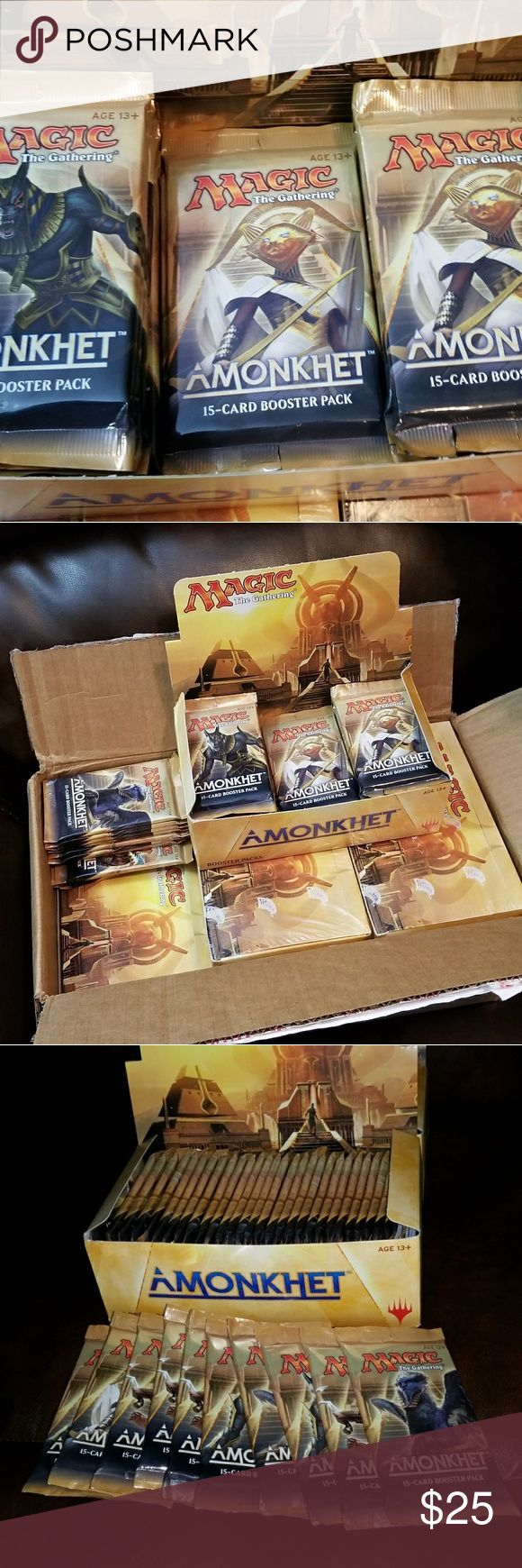 Magic the Gathering Booster Packs MTG Magic Cards These are Amonkhet booster packs, we received several cases of booster packs for a great price and are passing that to you!  10 booster packs for $25 20 booster packs for $45 Wizards of the Coast Other
