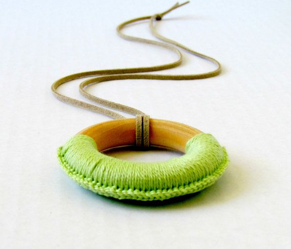 Nursing Necklace  Mint Green Teething Necklace  by FairyOfColor, $6.50