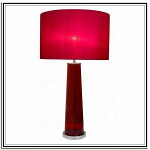 Material Red Table Lamps For Sale Zoomie Kids Lamp Set Swing Arm Traditional Glass Large Clear Glass Table Lamps