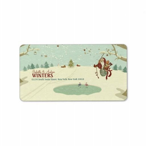 Tarzan Santa Address Label   Click on photo to purchase. Check out all current coupon offers and save! http://www.zazzle.com/coupons?rf=238785193994622463&tc=pin