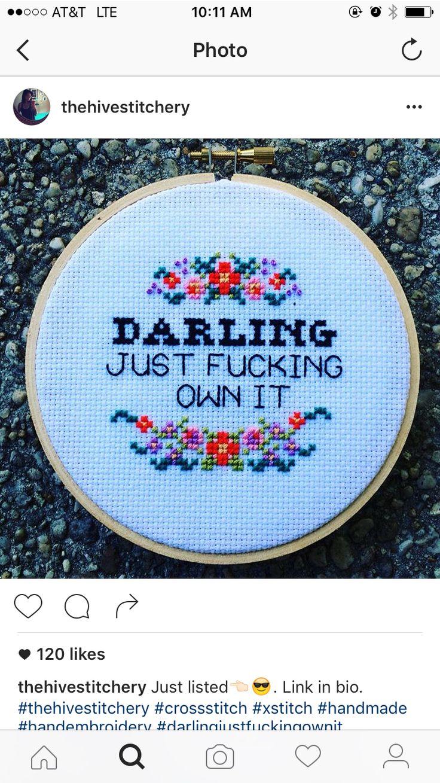 Own it cross stitch