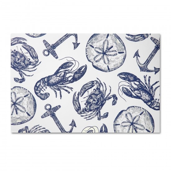 nautical paper placemats! perfect for messy seafood dinners. so need these!