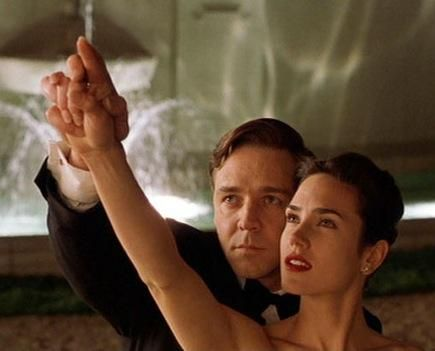"""Nash: Alicia, does our relationship warrant long-term commitment? I need some kind of proof, some kind of verifiable, empirical data.  Alicia: I'm sorry, just give me a moment to redefine my girlish notions of romance.    """"Beautiful Mind"""""""