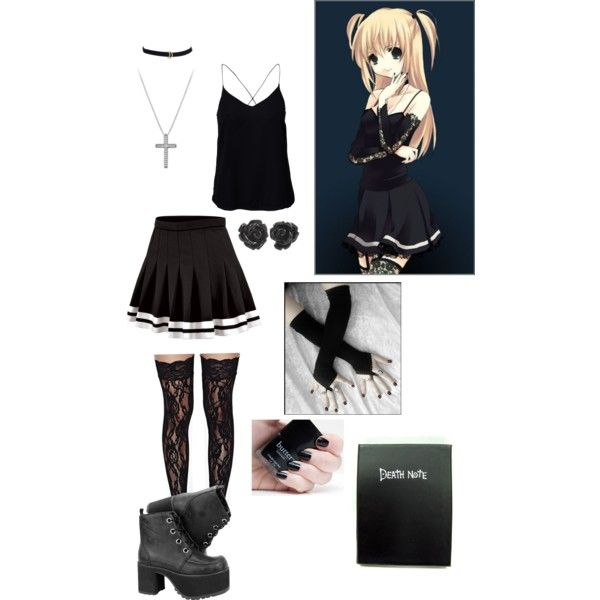 misa amane death note inspired by xcherry on polyvore