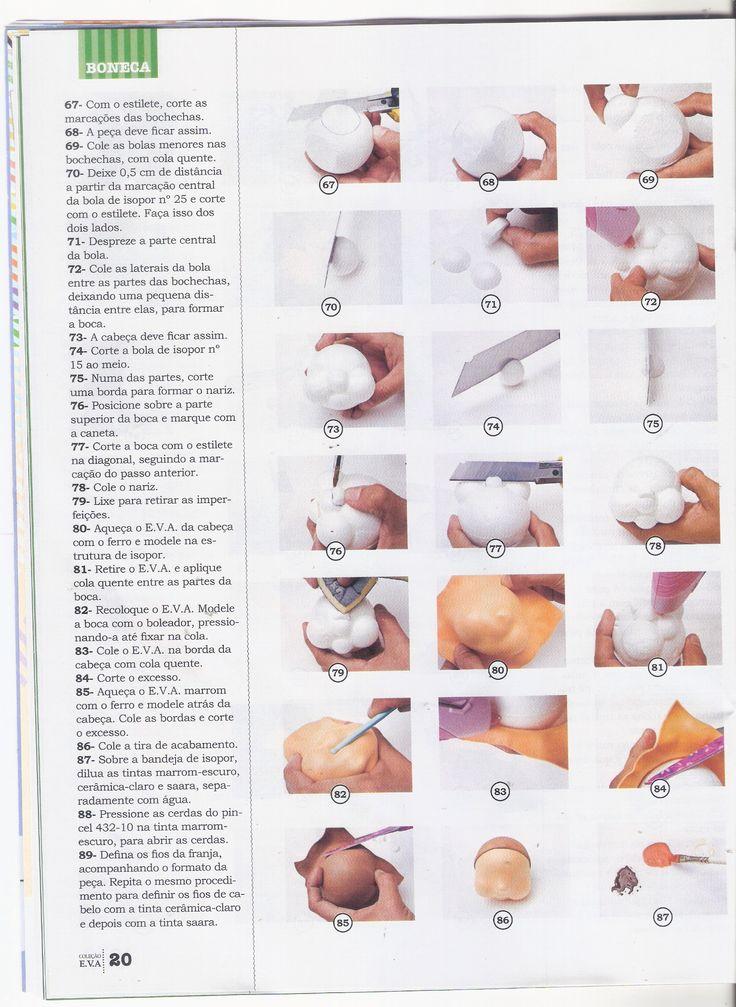 PAP fofucha aguinha de coco de la colección Pomar da Krika. Aprende con este paso a paso como hacer la muñeca aguita de coco de la coleccion fofuchas de la