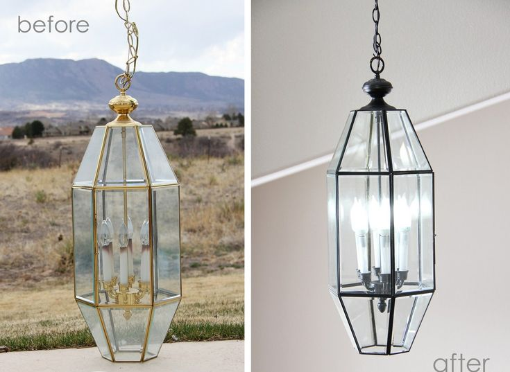 update light fixtures with a can of spray paint. Black Bedroom Furniture Sets. Home Design Ideas