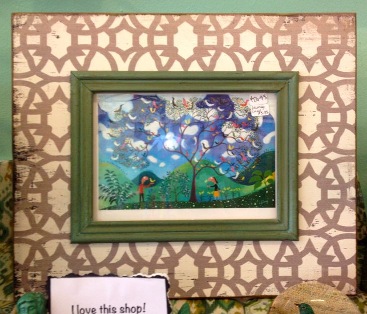 Some cards are just too beautiful not to frame - love this Leunig card and frame combo!