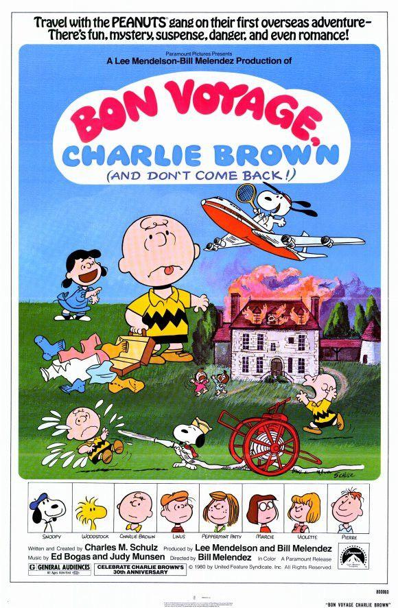 Bon Voyage Charlie Brown 11x17 Movie Poster (1980)