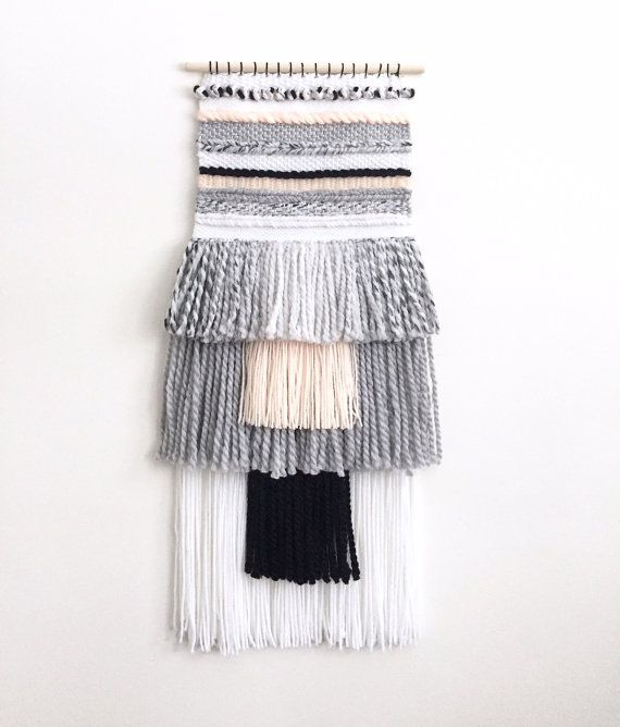 Woven Wall Hanging - Pastel Woven Wall Hanging / Neutral Wall Hanging / Handwoven Tapestry / Weaving Fiber Art / Hand Loom