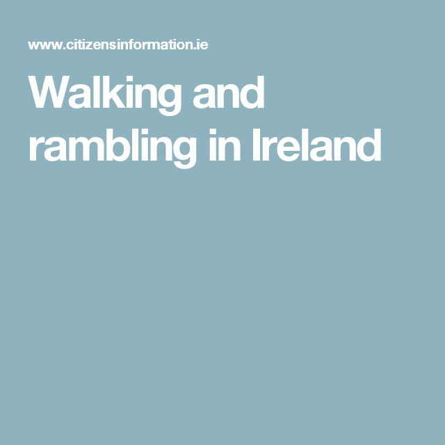 Walking and rambling in Ireland