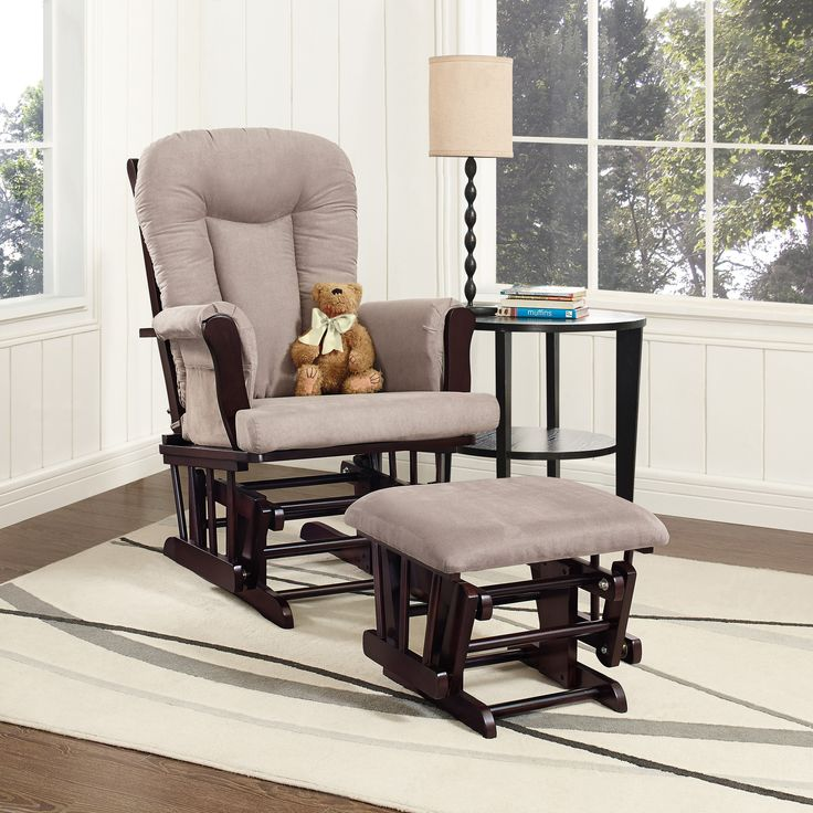 Baby Relax Glider Rocker and Ottoman Set - The ultimate nursery essential, this Baby Relax Glider Rocker and Ottoman Set makes life easier today and more comfortable after baby is older....