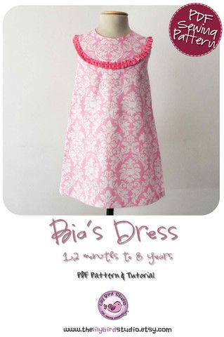 Bia Dress A-Line dress sewing pattern for girls by Lily Bird Studio $8.50