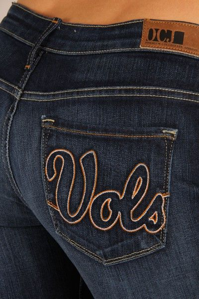 OCJ Apparel | Premium Collegiate Denim | Tennessee Volunteers Bootcut Jeans Vols in Deep Indigo | www.ocjapparel.com