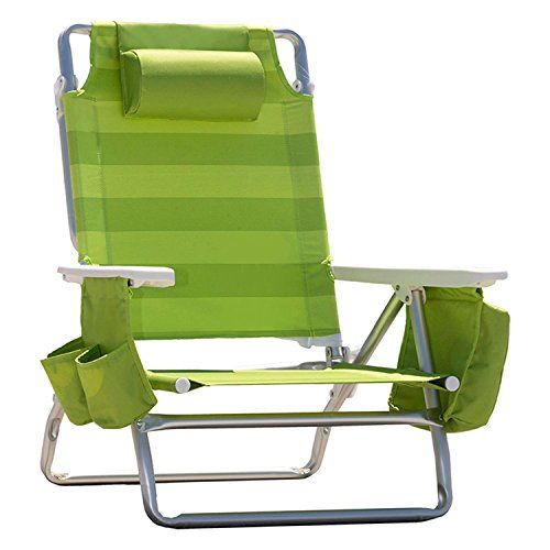Nautica Reclining Portable Beach Chair with Insulated Cooler (Lime Green Stripe) ** To view further, visit http://www.buyoutdoorgadgets.com/nautica-reclining-portable-beach-chair-with-insulated-cooler-lime-green-stripe/?uv=280616064532