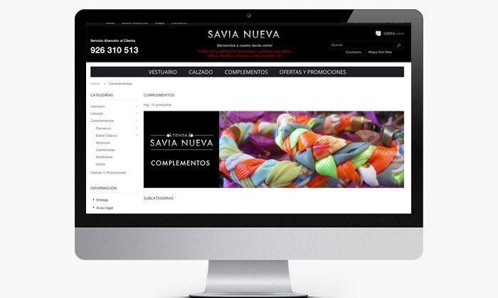 Diseño de sección interna para tienda online  http://www.basicum.com