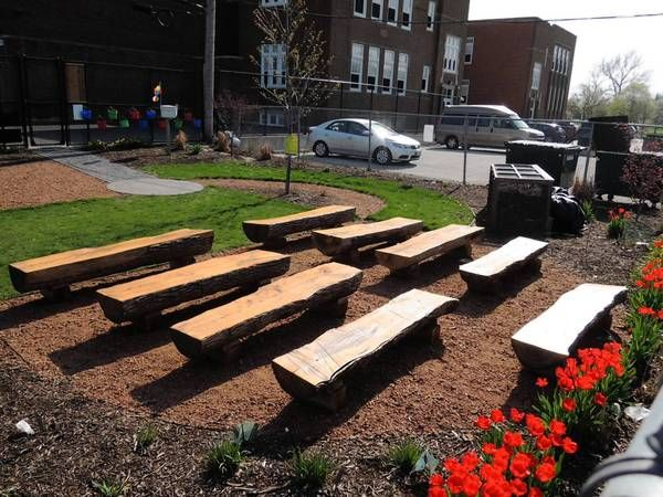 The outdoor classroom at Hawthorne Elementary School in Elmhurst.
