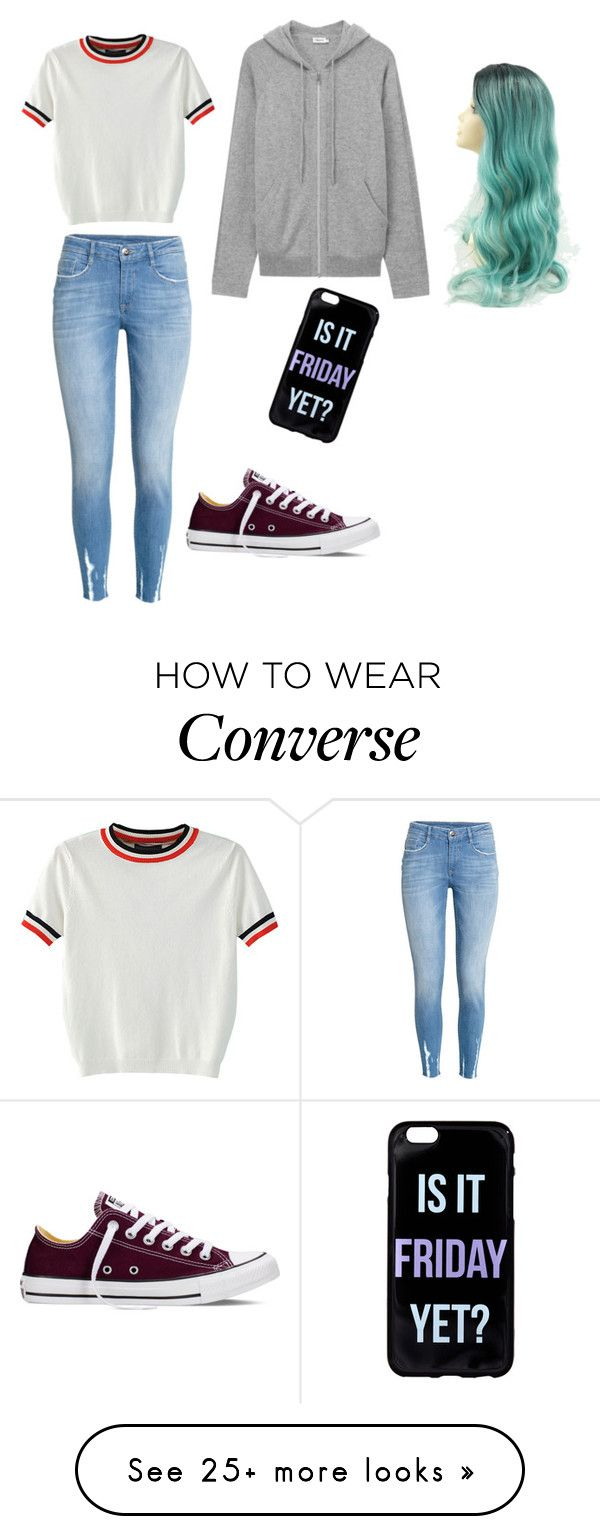"""Untitled #1"" by mariasayssiralot on Polyvore featuring WithChic, Converse and H&M"