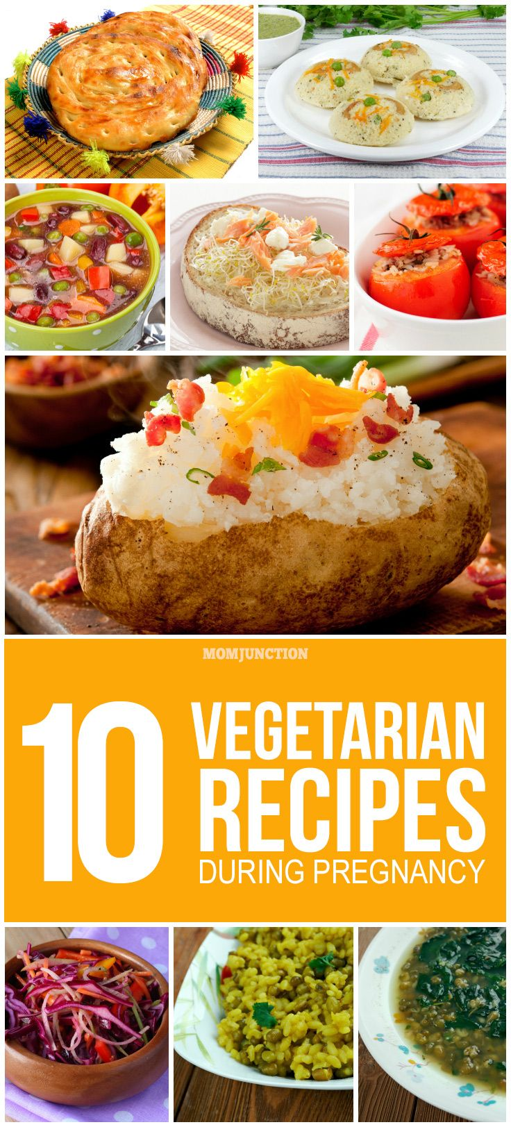 10 Healthy Vegetarian Recipes During Pregnancy: Are you pregnant and trying to start eating healthy? Do you feel you are running out of interesting recipe ideas? Are you looking for vegetarian recipes that will be good especially during #pregnancy ?we recommend you speak to your doctor about the ingredients first.