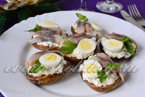 рецепт закуски из картофеля и сельдь