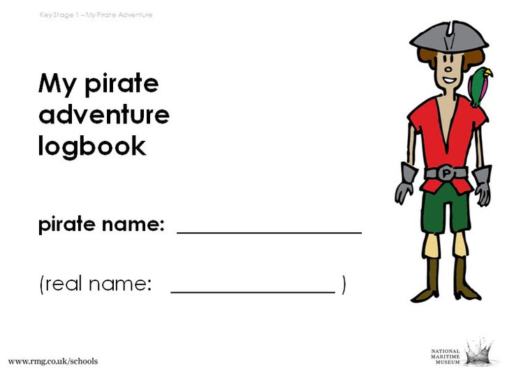 A Pirate Writing Adventure, Step 1