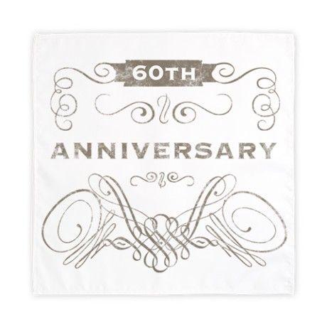 60th Vintage Anniversary Cloth Napkins