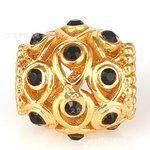 Оптовая золото 18k покрыло серебро бусы ручной работы бисером инкрустированные австрийский ювелирных изделий с бриллиантами европейской и американской моды