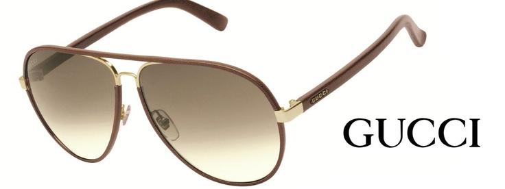gucci leather sunglasses