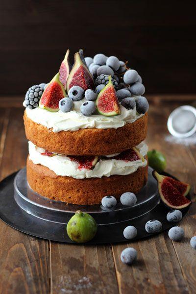 Naked cake otoñal SIN AZÚCAR » Galletilandia