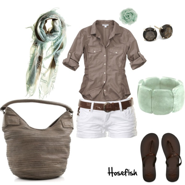 Mint & brown, created by hosefish: Fashion, Idea, Style, Dream Closet, Spring Summer, Summer Outfits, Brown