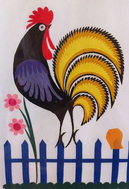 Polish folk art.....Make one like my handsome rooster.