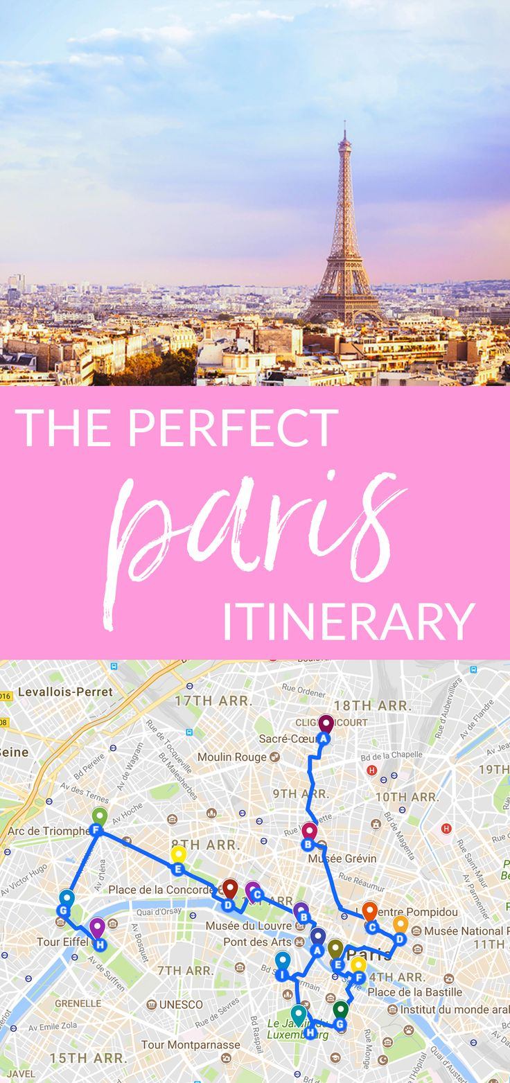 Heading to Paris for the first time and not sure what to do? This is the perfect Paris itinerary. #paris #itinerary #parisitinerary #travel #wanderlust #vacation #france