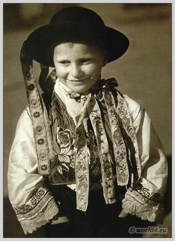 Young boy from Veľké Dvorníky, Slovakia in traditional costume. http://world4.eu/costume-velke-dvorniky-slovakia/