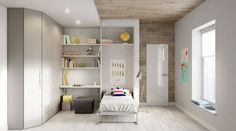 Wardrobe corner room with foldaway bed