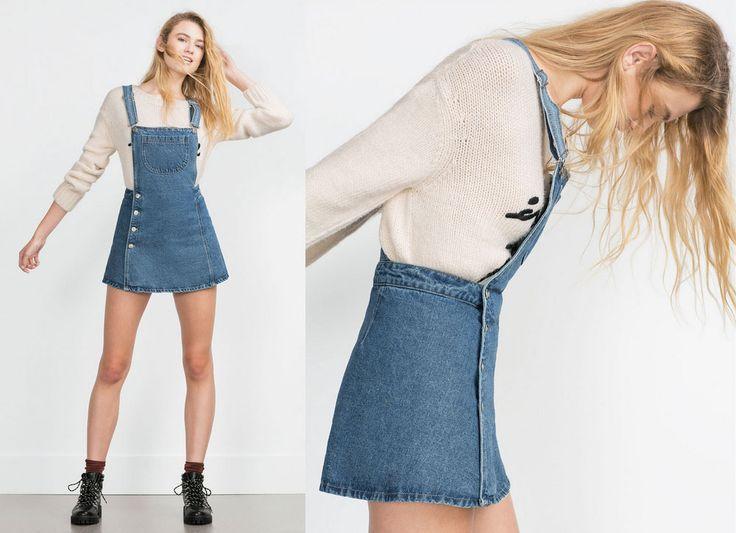 Denim skirt from Zara