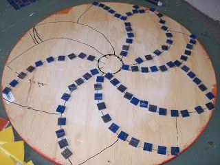 Easy Mosaic Patterns | Nancys Arts, Crafts & Favorites: Making a Mosaic Table Top